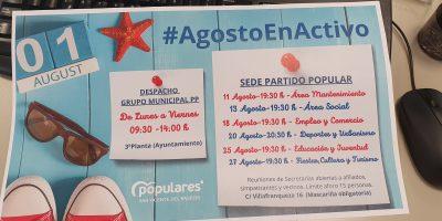 #AgostoEnActivo, LA CAMPAÑA ESTIVAL DEL PP DE SAN VICENTE